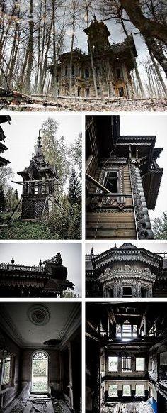 abandoned gothic house