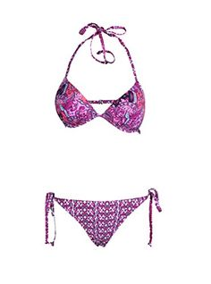Zity Sexy Triangle Bra Vintage Style Printing Womens Swimsuit Bikini Set S >>> You can get additional details at the image link.Note:It is affiliate link to Amazon.