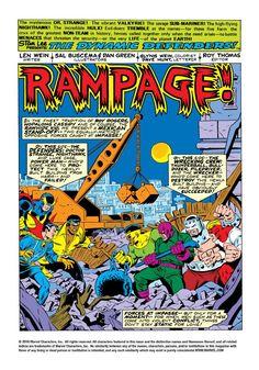 Defenders vs The Wrecking Crew Sal Buscema, John Buscema, Comic Book Artists, Comic Books, Sub Mariner, Incredible Hulk, American Comics, Comic Art, Marvel Comics