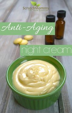 Anti-Aging Night Cream DIY Recipe (easy and effective with some super powerful secret ingredients)!- Scratch Mommy Anti-Aging Night Cream DIY Recipe (easy and effective with some super powerful secret ingredients)! Anti Aging Creme, Creme Anti Age, Anti Aging Night Cream, Anti Aging Tips, Anti Aging Skin Care, Night Face Cream, Anti Aging Facial, Homemade Skin Care, Homemade Beauty Products