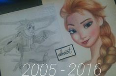 11 ans déjà .. #memories #drawing #newgeneration #artist #alexart #art #pencildrawing #elsa #disney #reunionisland #reunion #team974 by alexartnsq