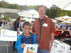 Michael with Matt Van Fleet at the Chappaqua Children's Book Festival 2013, we thought it would be a rainy day but the presence of all these great artists made the sun shine through it all.cannot wait for 9/27/2014