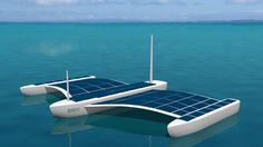 Eco Marine Power has unveiled plans for a solar-electric powered unmanned surface vessel #solar