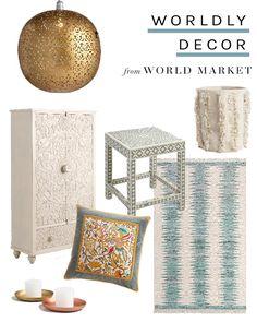 Worldly Decor via Thou Swell for Cost Plus World Market www.worldmarket.com
