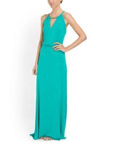 Sleeveless Halter Maxi Dress