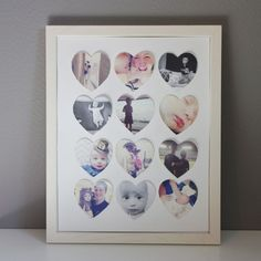 A simple DIY Instagram art project - so sweet and makes a great gift for Christmas, Mother's Day, Valentine's Day, etc.