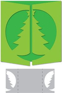 Silhouette Design Store - View Design #34909: christmas tree gate-fold card