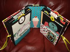 A Creative Operation: Happy Days Mini Album! Mini Photo Albums, Mini Albums Scrap, Mini Scrapbook Albums, Scrapbooking Album, Scrapbook Paper Crafts, Envelopes, Album Book, Handmade Books, Handmade Cards
