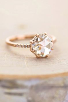 Sparkle Like A Diamond: 12 Moissanite Engagement Rings ❤ See more: www.wedding… Sparkle Like A Diamond: 12 Moissanite Engagement Rings ❤ See more: www. Tiffany Wedding Rings, Wedding Rings Simple, Wedding Rings Solitaire, Beautiful Wedding Rings, Beautiful Engagement Rings, Engagement Ring Styles, Rose Gold Engagement Ring, Solitaire Engagement, Vintage Engagement Rings