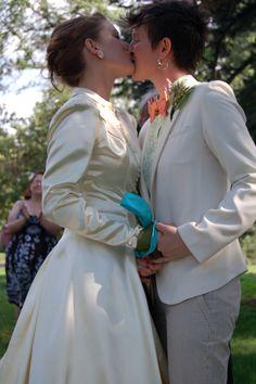 Sealing the deal! lesbian, wedding, www.femmeanddandy.wordpress.com