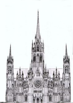 Rough Design For A Cathedral Dark Sketch