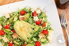 Arugula, Tomato, Avocado, Pine Nut Salad (gluten-free, vegan) - Vegetarian Gastronomy