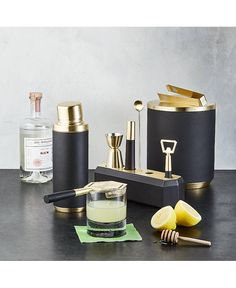 Hotel Collection Black & Gold Barware Collection, Created For Macy's Cool Kitchen Gadgets, Cool Kitchens, Ceramic Coasters, Bar Accessories, Bar Tools, Cool Bars, Tool Set, Dinnerware, Black Gold