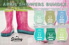 April Showers bundle. 6 of our fresh scents. Buy 5 get your 6th free. $30 for 6.