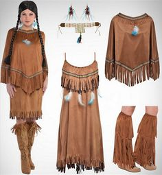 Decent costume, shows various pieces.  Authentic?  Not a Native American model.