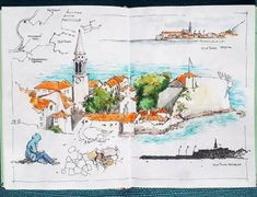 Sketch-travel Montenegro. Budva