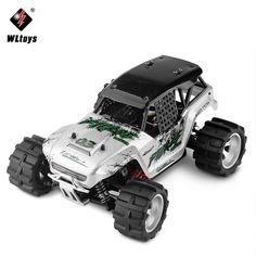 WLtoys Electric 1:18 RC Big Foot Car 4WD High Speed Off Road Racing Car 45KM/h Remote Control Radio Cars Toy #Affiliate #radiocontrolledcars #rccars