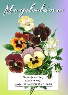 Magdaléna Na svoje meniny super sa maj, prajem ti zo srdca iba to NAJ Place Cards, Place Card Holders, Plants, Facebook, Text Posts, Plant, Planets