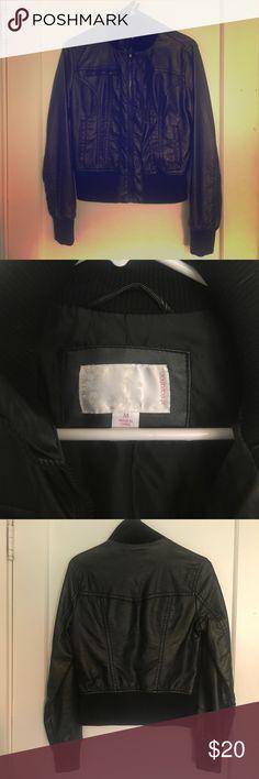 Black jacket Lightly worn faux leather jacket Jackets & Coats