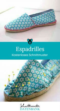 Espadrilles Sommerschuhe Schuhe Schlappen kostenlose Schnittmuster Gratis-Nähanleitung