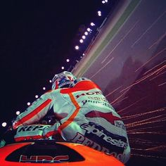 @26_danipedrosa in action in the #QatarGP FP4 session with @hrc_motogp @box_repsol #Padgram
