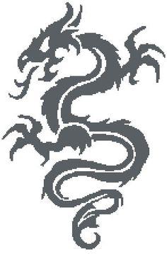 Dragon Crochet Chart/Graph Pattern