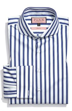 Thomas Pink 'Slim Fit' Dress Shirt available at Nordstrom Dress Shirt And Tie, Slim Fit Dress Shirts, Slim Fit Dresses, Fitted Dress Shirts, Suit Shirts, Cool Shirts, Fashion Moda, Mens Fashion, Heavy Clothing