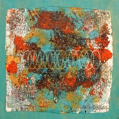 JOYFUL ART - Gelli Plates Have those of you who are artists discovered Gelli Plates yet?  They are really a lot of fun.  There are a lot of things you can do with them, and I have only just begun.  I have four finished pieces, and they are shown below.  They are currently showing at ARTspot in Edmonds