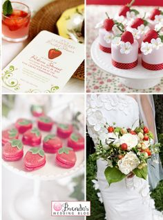 strawberry theme ~ for desserts and beverages