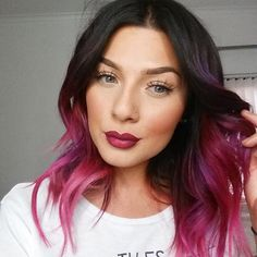 Purple ~ pink ~ magenta ombre hair