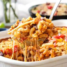 LIGHTER Cheesy Taco Pasta is my husband& absolute favorite pasta! Juicy beef, beans, pasta etc., smothered in an incredible creamy Enchilada-esque sauce out of this world delicious! Your whole family will LOVE this and its super easy! Taco Pasta Bake, Taco Pasta Recipes, Chili Pasta, Taco Chili, Pasta Casserole, Casserole Recipes, Mexican Food Recipes, Beef Recipes, Baking Recipes