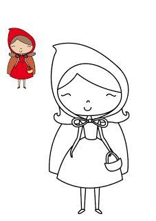 Free pattern for felt little red riding hood doll Little Red Ridding Hood, Red Riding Hood, Puppet Crafts, Felt Crafts, Creative Activities, Craft Activities For Kids, Felt Patterns, Embroidery Patterns, Preschool Colors