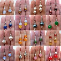 Beautiful Handmade Natural Jade Gemstone Leverback Dangle/Drop Earrings Fashion Jewelry Necklaces, Bead Jewellery, Beaded Jewelry, Jewelry Watches, Fashion Jewellery, Jewellery Shops, Silver Jewelry, Fancy Jewellery, Beaded Necklaces