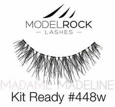 26b3e2d9c6f MODELROCK Lashes Kit Ready #448w are 100% soft human hair wispy and  feathery lashes
