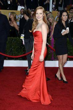 Jessica Chastain wore Pre-Fall 2013 Alexander McQueen.