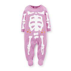 eBay Halloween shop only $10.95 NWT Carter's Glow in the Dark Skeleton Footed Sleeper 3 Months Halloween Purple