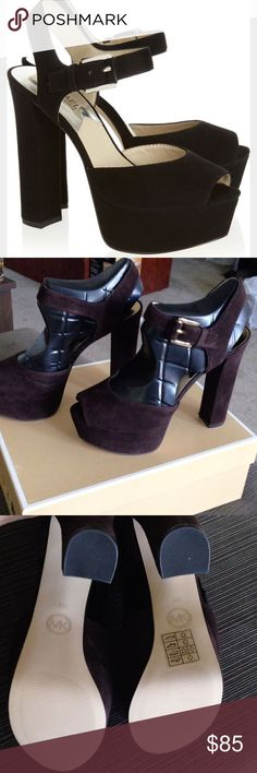 Michael kors londons brown suede size 8 Brand new londons by Michael kors size 8 MICHAEL Michael Kors Shoes Platforms