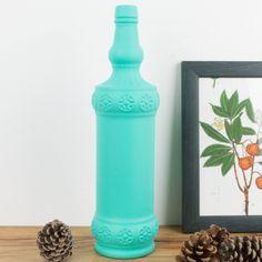 Antigua botella de licor pintada   Antic&Chic