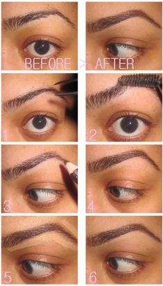 This is the exact process I use for my brows. But you must know that every technique differs according to the definition of your real eyebrows. Because I have such thick brows I do more shaping than actual filling in. Find what fits you!