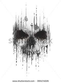 skull print/skull illustration/evil skull/concert posters/skull canvas print/skull tattoo/skull art/watercolor skull/T-shirt print/skull sticker/skull design/skull banner/skull flag/dark devil skull - stock photo