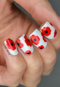 Lest We Forget - Remembrance Day Nails nail art by Jayne