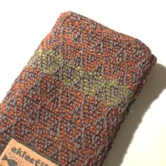 SALE! One-off hand woven tweed hearts phone cover  £12.00