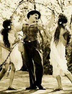 """Charlie Chaplin ~ """"Sunnyside"""", 1919"""