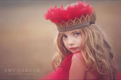 NEW glam feather crown... red and gold feather headdress photography prop child- adult sizes ORIGINAL DESIGN