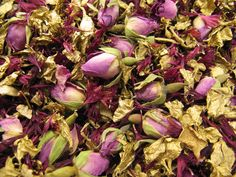 Claret Wildflowers, Gold Delphiniums and Mini Rose Buds - The Real Flower Petal Confetti Company