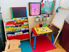 Great ideas on creating toddler's play area
