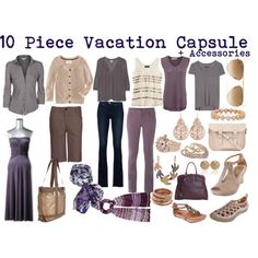 Lavender Travel Wardrobe by susanmcu on Polyvore featuring Simply Vera, James Perse, H&M, Joie, rag & bone, Mossimo, White Stuff, J Brand, BKE and Earthies