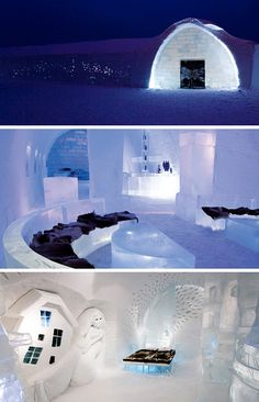 Situated in village Jukkasjärvi, 200 kilometers north of the Arctic Circle in Sweden, this little gem turns a quaint arctic town into a world-renowned attraction. The whole hotel is carved out of ICE! With rates as high as $800 a night, you can stay in an artist suite complete with an  ice bed, hand carved ice sculptures and sparkling ice chandeliers.