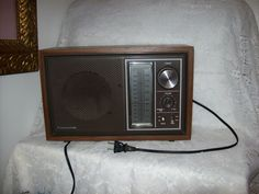 Vintage 1970 Panasonic AM/FM Wood Grain Look Cabinet Table Top Radio Model Re-6289 Only 25 USD by SusOriginals on Etsy