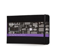 Black Page Album - Large - Moleskine ® with Highlighter Pencil Set